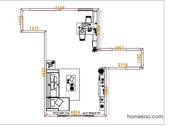 平面布置图乐维斯系列客餐厅G6944