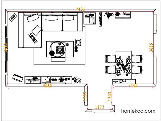 平面布置图斯玛特系列客餐厅G6946