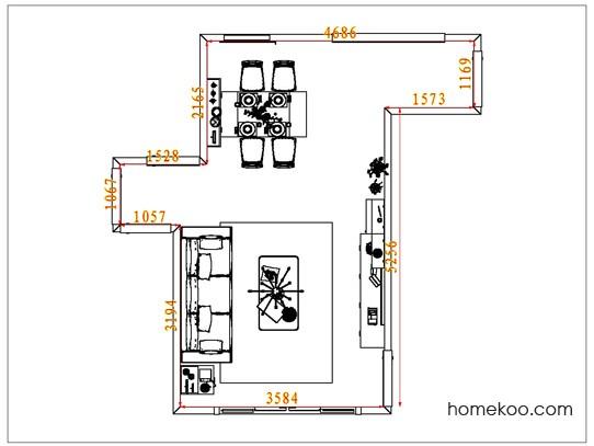 平面布置图贝斯特系列客餐厅G6948