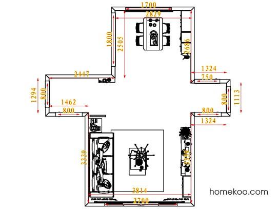 平面布置图斯玛特系列客餐厅G6950
