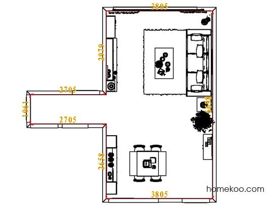 平面布置图斯玛特系列客餐厅G6951