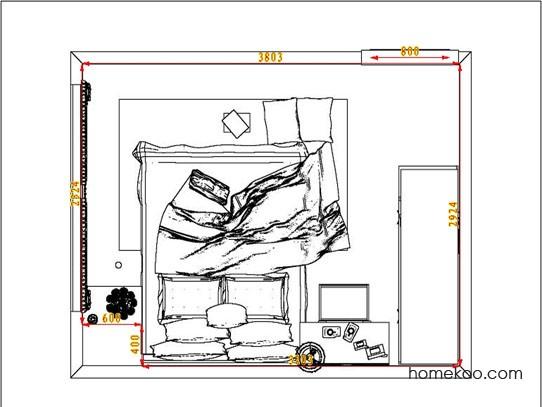 平面布置图贝斯特系列卧房A6904