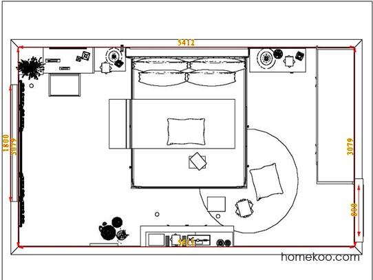 平面布置图柏俪兹系列卧房A6907