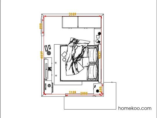 平面布置图柏俪兹系列卧房A6908
