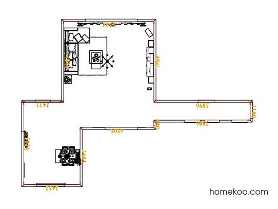 平面布置图贝斯特系列客餐厅G6976