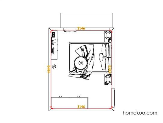 平面布置图斯玛特系列卧房A6924