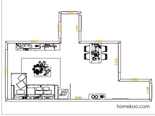 平面布置图柏俪兹系列客餐厅G6993