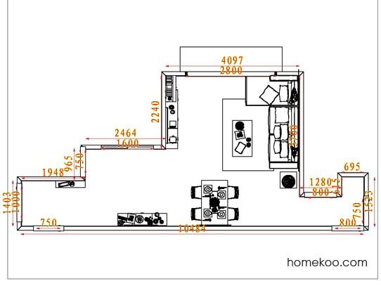 平面布置图斯玛特系列客餐厅G6999
