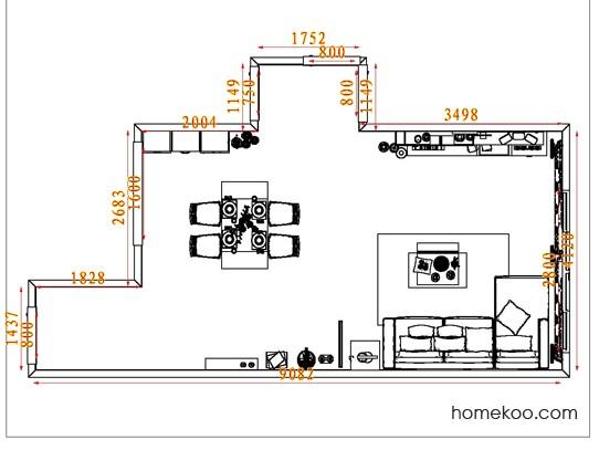 平面布置图斯玛特系列客餐厅G7002