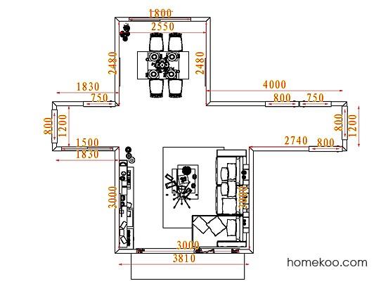 平面布置图贝斯特系列客餐厅G7004