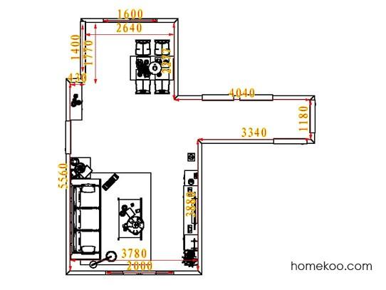 平面布置图斯玛特系列客餐厅G7007
