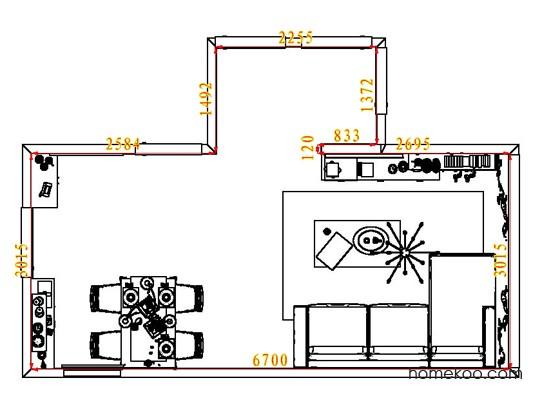 平面布置图贝斯特系列客餐厅G7015