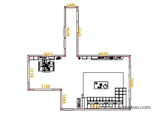 平面布置图格瑞丝系列客餐厅G7016