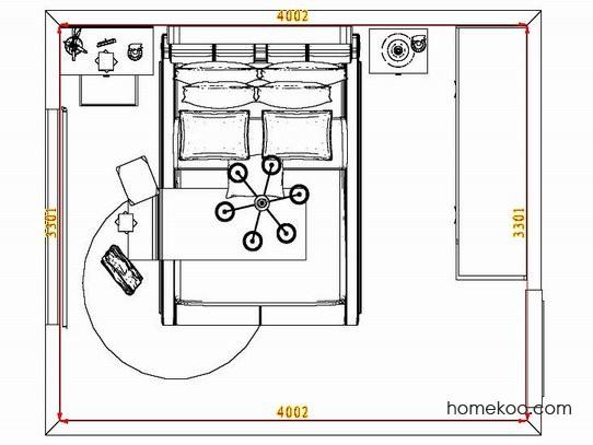 平面布置图贝斯特系列卧房A6959