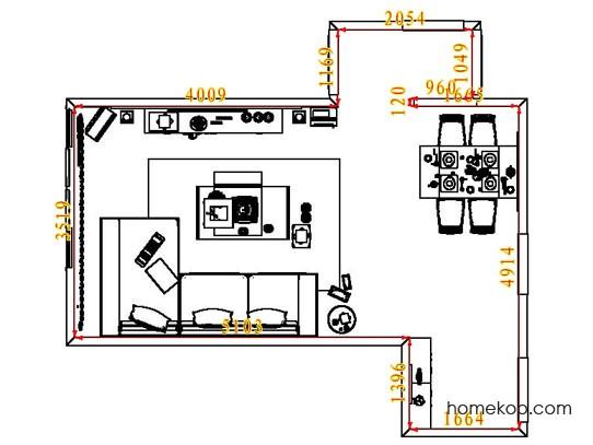 平面布置图斯玛特系列客餐厅G7031