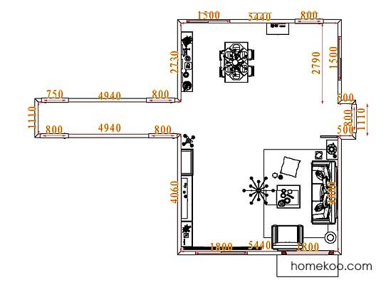 平面布置图贝斯特系列客餐厅G7032