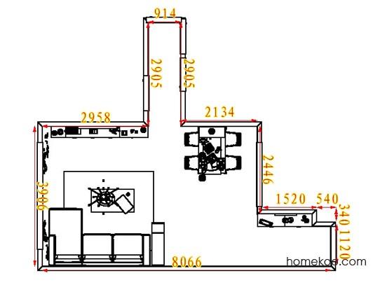 平面布置图柏俪兹系列客餐厅G7035