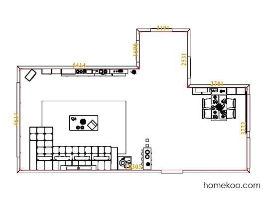 平面布置图乐维斯系列客餐厅G7053