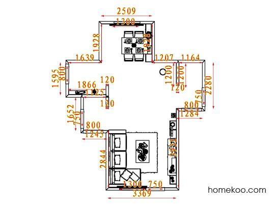 平面布置图贝斯特系列客餐厅G7066