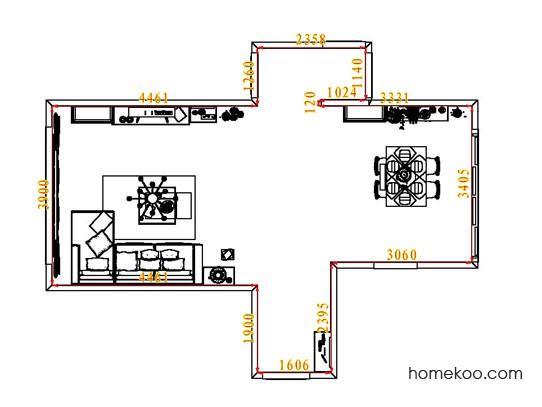 平面布置图斯玛特系列客餐厅G7092