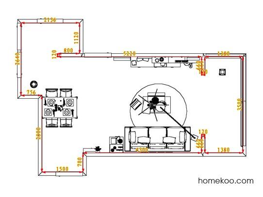 平面布置图乐维斯系列客餐厅G7093