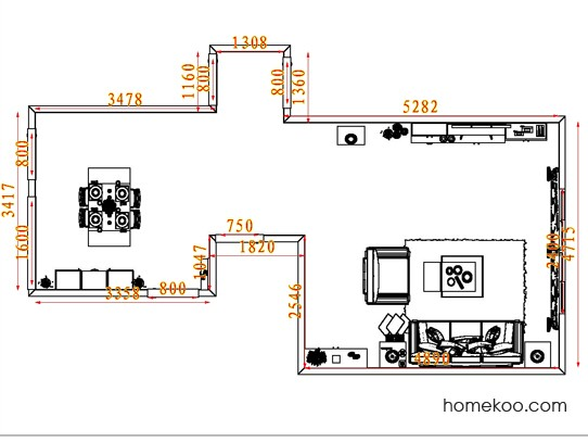 平面布置图德丽卡系列客餐厅G7095