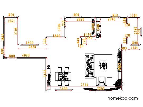 平面布置图德丽卡系列客餐厅G7101