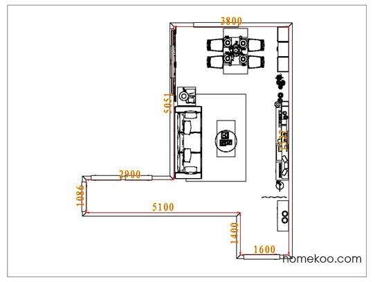 平面布置图柏俪兹系列客餐厅G7103
