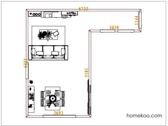 平面布置图贝斯特系列客餐厅G7105