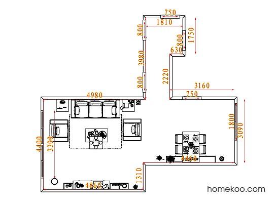 平面布置图斯玛特系列客餐厅G7108