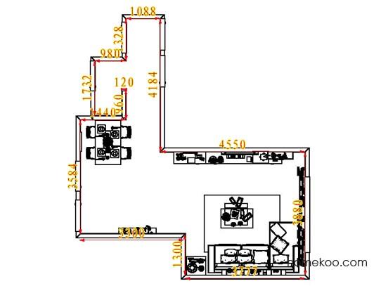 平面布置图德丽卡系列客餐厅G7118