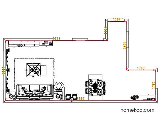平面布置图德丽卡系列客餐厅G7137
