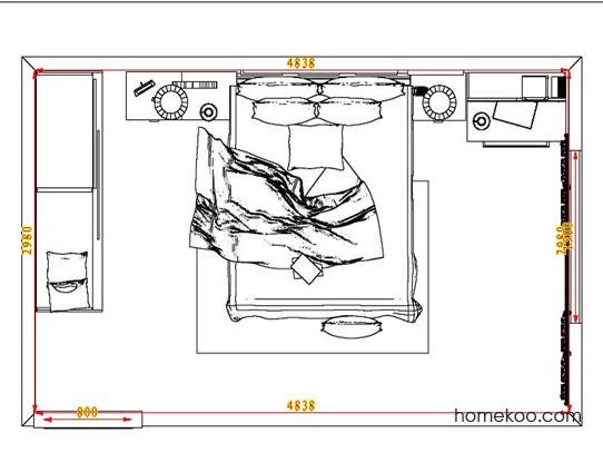 平面布置图贝斯特系列卧房A7060