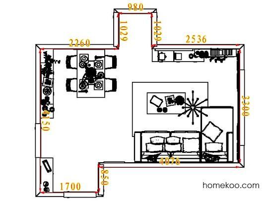 平面布置图贝斯特系列客餐厅G7154