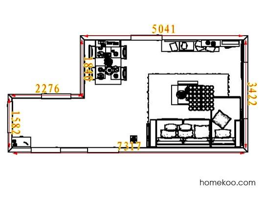 平面布置图乐维斯系列客餐厅G7155