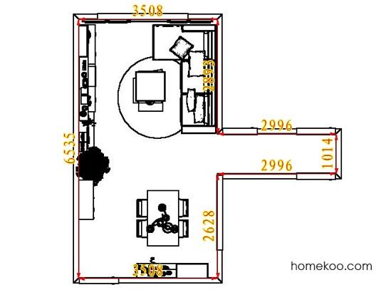 平面布置图德丽卡系列客餐厅G7160