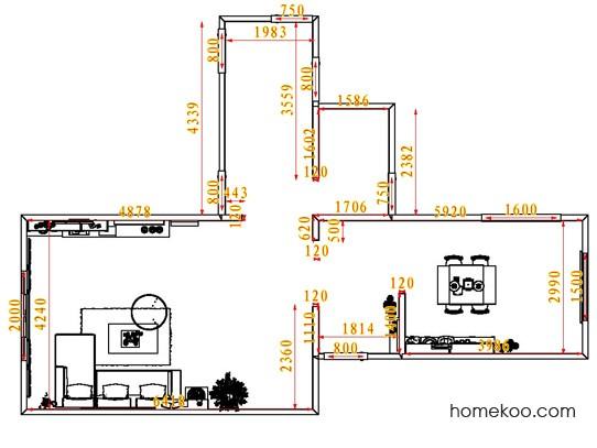 平面布置图斯玛特系列客餐厅G7168