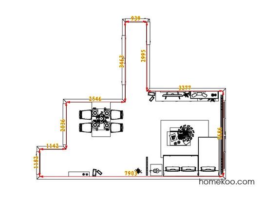 平面布置图斯玛特系列客餐厅G7174