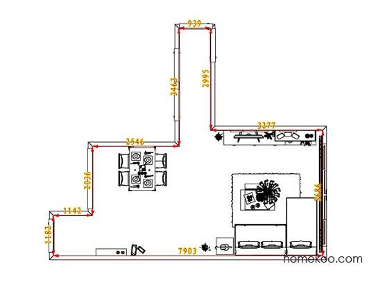 平面布置图柏俪兹系列客餐厅G7175