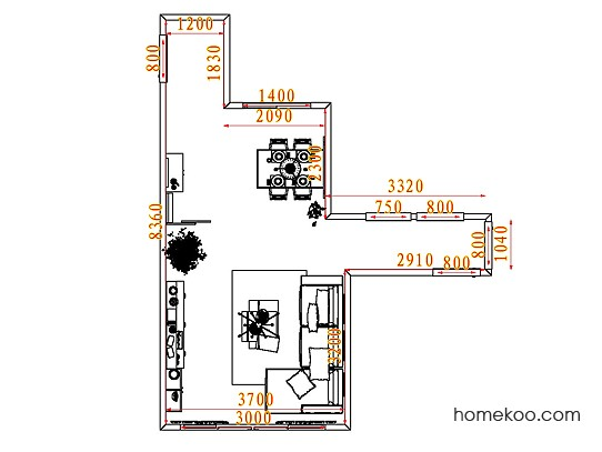 平面布置图贝斯特系列客餐厅G7177