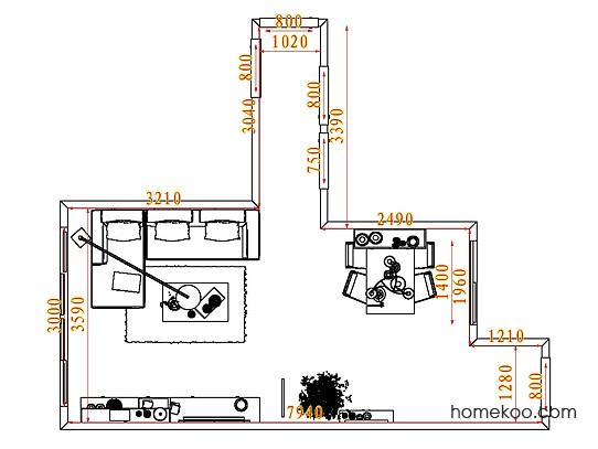 平面布置图柏俪兹系列客餐厅G7180