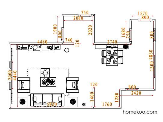 平面布置图乐维斯系列客餐厅G7183