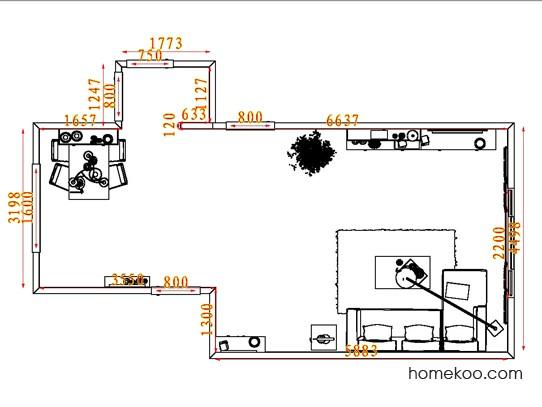 平面布置图柏俪兹系列客餐厅G7196
