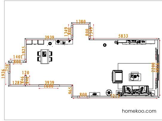 平面布置图贝斯特系列客餐厅G7197