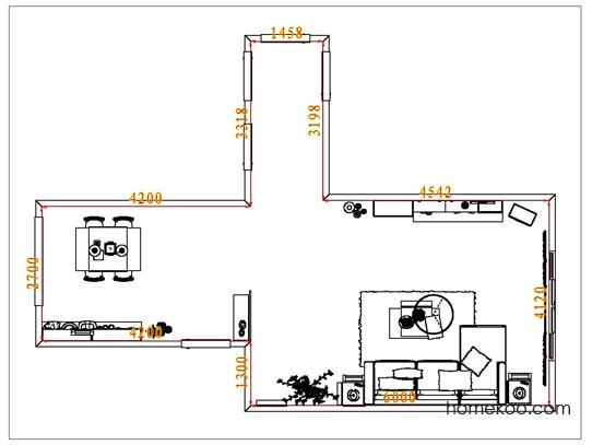 平面布置图贝斯特系列客餐厅G7205