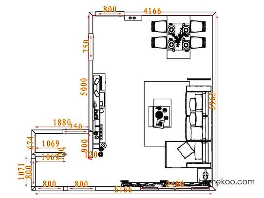 平面布置图贝斯特系列客餐厅G7221