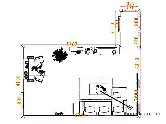 平面布置图柏俪兹系列客餐厅G7222