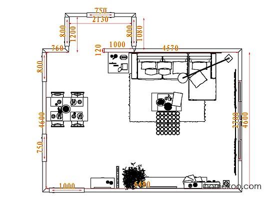 平面布置图德丽卡系列客餐厅G7224