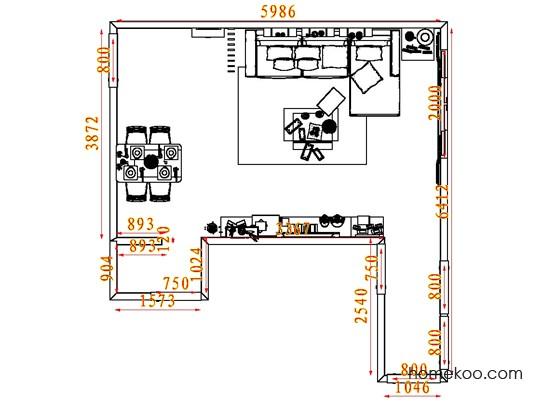 平面布置图格瑞丝系列客餐厅G7225