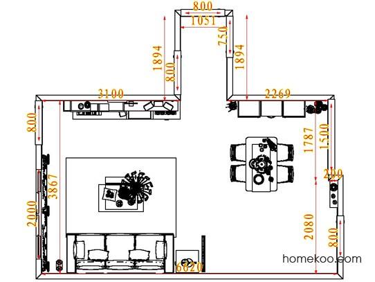 平面布置图格瑞丝系列客餐厅G7233
